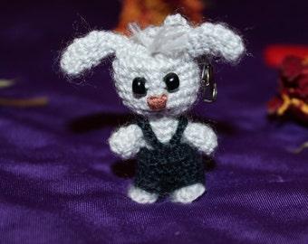 Bunny Tom keychain knitting toy Day of friends soft toy handmade