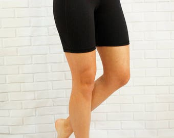 Longer length biking shorts with zippered pocket in back - Racer