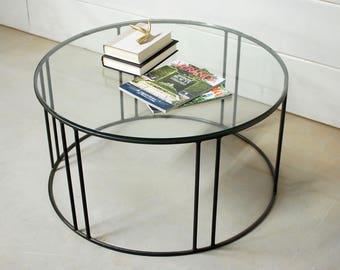 Round Glass Coffee Table Coffee Table Coffee Table Glass Living Room Furniture