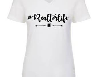Hashtag Realtor Life V neck