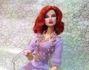 Fashion Royalty Barbie Silkstone crystal chain belt or necklace