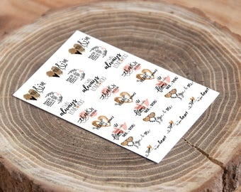 Wedding stickers. Adhesives for gift wrapping. Adhesive labels for wedding favors.