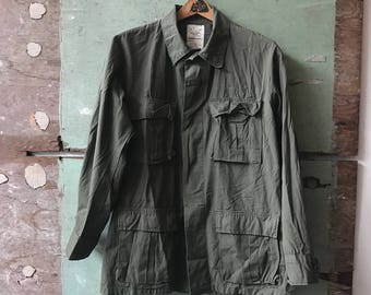 1970's Medium Military Issue Ripstop Field Jacket