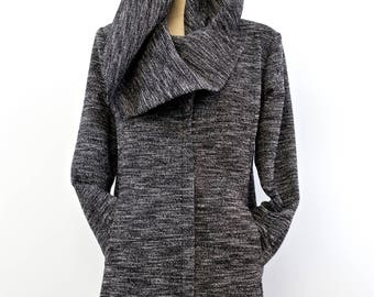 SARA COAT: coat/jacket/coat black-grey