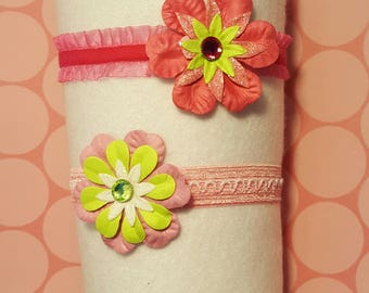 Spring Flower Headband Set