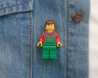 Lego farmer badge / fridge magnet