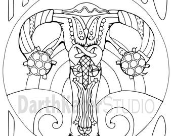 premium adult coloring postcards mysterious lady parts 10 pack
