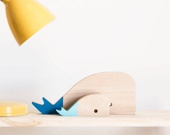 """""""Whale"""" wood figures"""