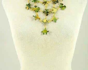 Puzzling Times - Jewelry Upcycled Necklace