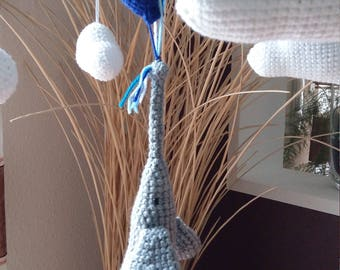 Mobile, baby mobiles, elephant, Game Watch, mobile air balloon, baby crochet,