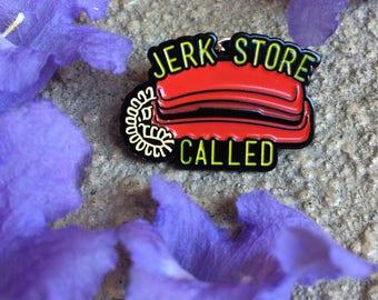 Jerk Store Enamel Pin | Seinfeld
