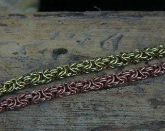 Chainmaile, Byzantine bracelet