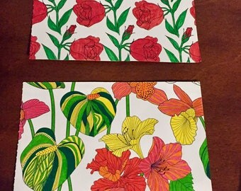 Hand Colored Flower Postcards