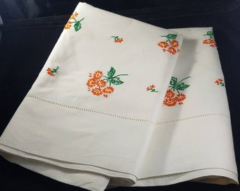Vintage Hand-Embroidered Pillowcases (Set of 2)