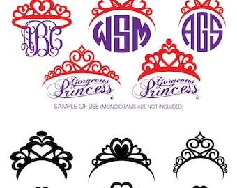 Princess Tiara Digital Cut Files Svg Dfx Eps Png - Silhouette SCAL Cricut Vector Printable Download Paper Crafts Vinyl Die Cutting JB-488