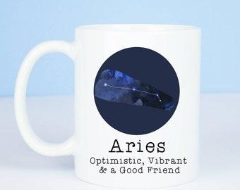 Aries mug, Personalised back, lovely starsign Aries mug, March 20 – April 19