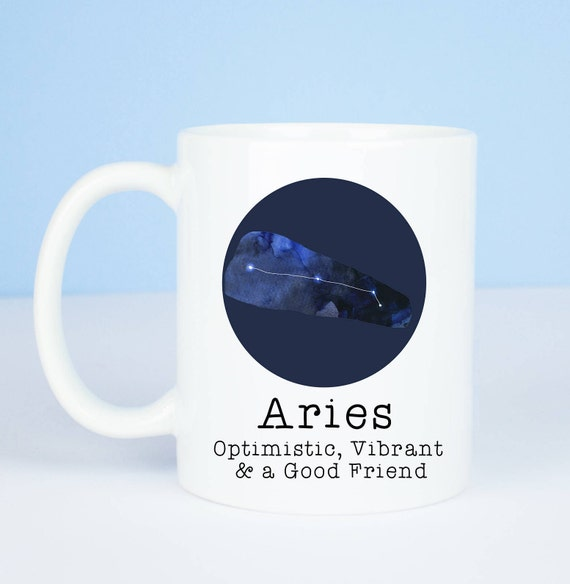 Aries mug, Personalised back, lovely starsign Aries mug, March 20 – April 19