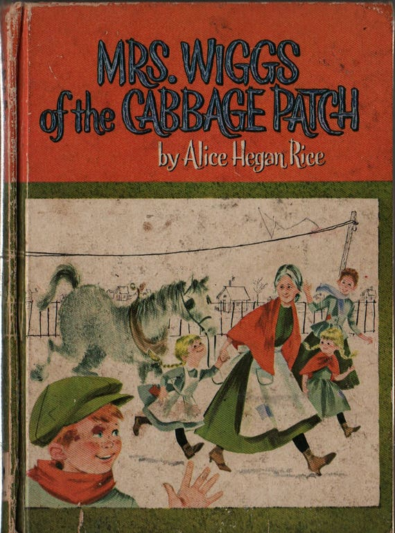 Mrs. Wiggs of the Cabbage Patch - Alice Hegan Rice - Norma and Dan Garris - 1962 - Vintage Kids Book