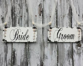 Wedding Chair Signs | Wedding Signs | Mr and Mrs Signs | Sweetheart Table Decor | Mr and Mrs Wedding Table Decorations | Bride and Groom