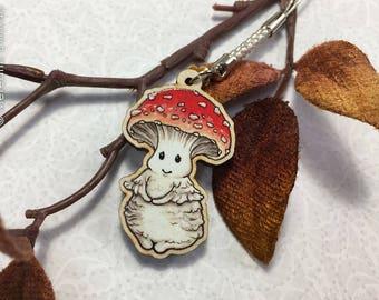Amanita Mushroom charm | Wooden Charm | Nature | Woodland Forest | Kawaii | Bag Charm