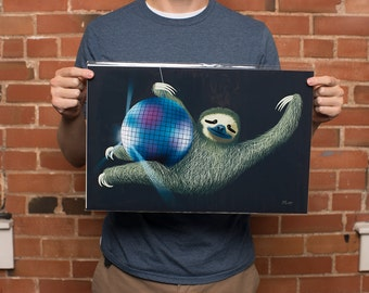 Sloth art print | Sloth Gift | Sloth Print | original from the artist, 11x17 inches