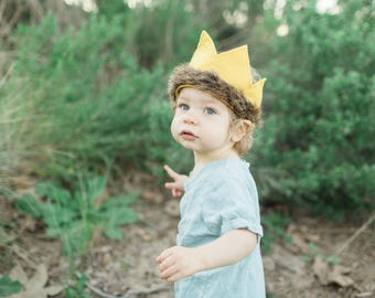 Where the Wild Things Are Crown // Where the Wild Things Are Inspired MAX crown // First Birthday // Wild ONE Theme