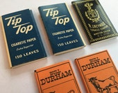 Lot of 5 vintage rolling papers OCB Tip Top Bull Durham