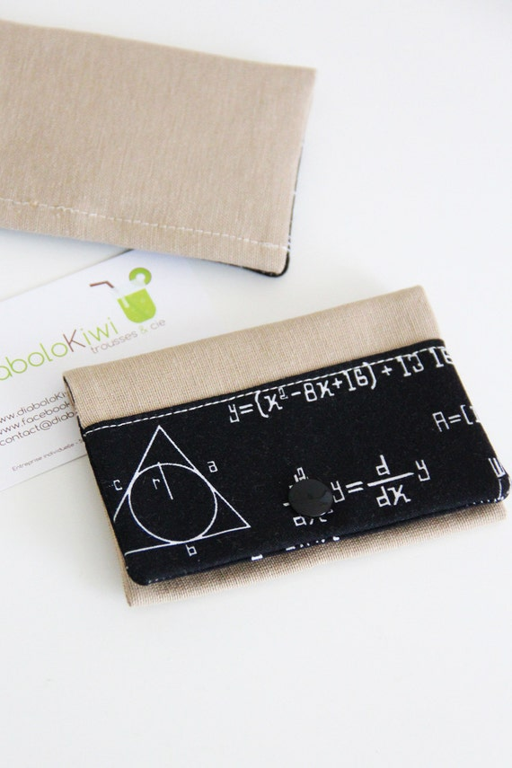 Card holder - sciences - black - chemistry - geek - maths - business cards - shopping cards - Sciences - Black
