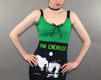 The Exorcist Horror Movie Tank Top T Shirt Dress Halloween Goth Possession Gothic Fashion