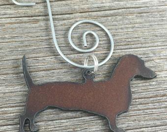 Dachshund Christmas Ornament, Dachshund Ornament, Dog Ornament, Pet Ornament, Dog Christmas Ornament, Gift for Dog Lover, Dachshund Gift