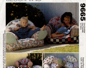 Comfy chair etsy for Kids overstuffed chair
