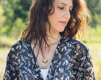 Opal Gemstone Necklace, Gold Opal Necklace, Blue Green Necklace, October Birthstone Necklace, Beaded Opal Necklace, Opal Pendant Necklace