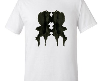 Rorschach Ink Blot Psychology T Shirt Gift for Psychologist Mens Style 1