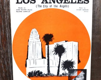 The Official Los Angeles Birthday Song of 1964 - Vintage Sheet Music