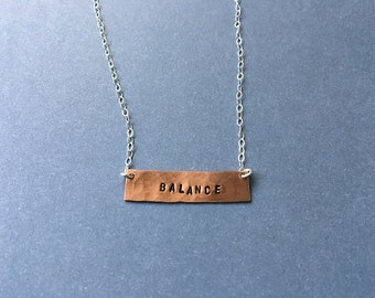 Balance Stamped Necklace