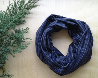 Infinty scarf - navy, black or ivory chalk line