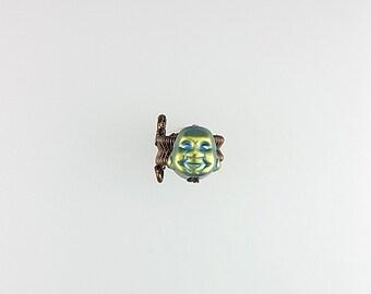 Buddha Ear Cuff, Ohm Buddha Jewelry, Hematite Buddha Earrings, Buddha Yoga Earrings, Buddah Earrings, Lucky Ear Cuff, Buddha Cuff Earring