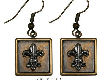 Earrings Fleur de Lis Francophile jewelry