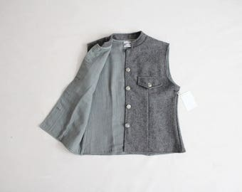 grey wool vest | button vest | wool suit vest