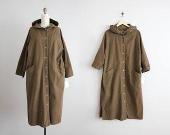 hooded trench coat | canvas coat | oversized coat