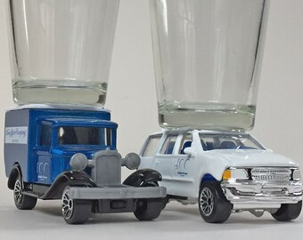 The ORIGINAL Hot Shot, Ford Motor Company 100 Years 1929 Model A & '98  Expedition, Match Box cars
