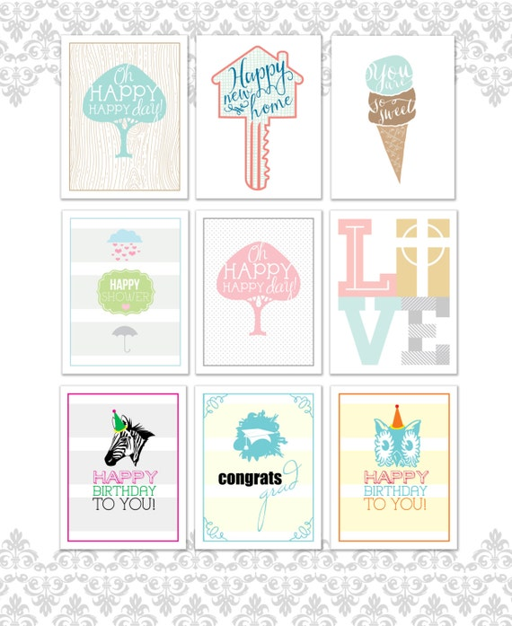 Variety Greeting Cards Pack Of 9 Greeting Card Variety Pack