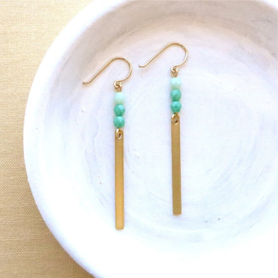 Reflection Earrings > Turquoise