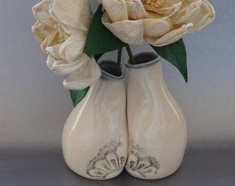 Wedding Vase Set, Unique Wedding Gift for Couples, Handmade Pottery / Ceramics