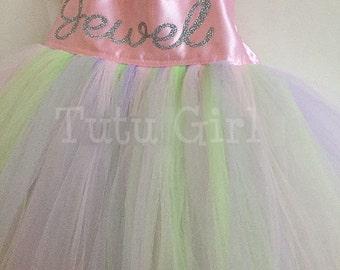 Personalized Girls Dress, Girls Tutu Dress, Personalized Tulle Dress, Personlized Toddler Tutu Dress, Baby Tutu Dress - DESIGN YOUR OWN
