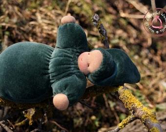 Schlamperle Erstlings Puppe handgefertigt in Waldorf Tradition - Puppe Waldorf Art - Kuschel Baby - Kuschelpuppe - Stoffpuppe