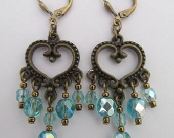 Chandelier Earrings - Aqua