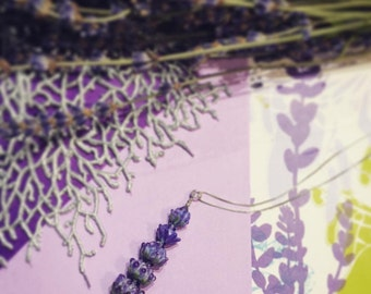 Royal Velvet Lavender Glass Bead Pendant