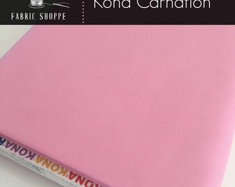 Kona cotton solid quilt fabric, Kona CARNATION 141, Kona fabric, Solid fabric Yardage, Kaufman, Pink fabric, Choose the cut