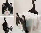 Cat Desk Organizer - Custom Cat Portrait - Desktop Organizer - Custom Made of your Cat - Cat Lover Gift - Cute Desk Accessories
